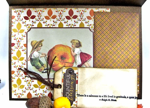 Gather Blessings Along the Way Woodland Card, Kathy Clement, photo-6