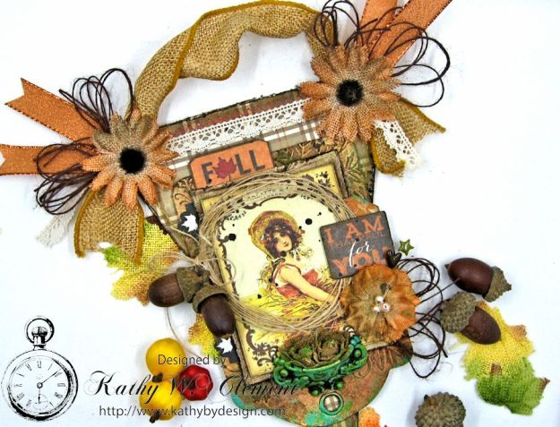 Thankful Fall Wall Hanging, Harvest, by Kathy Clement for Petaloo, Product by Authentique and Petaloo, Photo 6