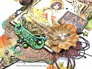 Thankful Fall Wall Hanging, Harvest, by Kathy Clement for Petaloo, Product by Authentique and Petaloo, Photo 7
