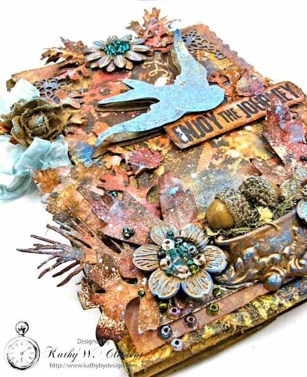 The Last Leaf Mixed Media Canvas for Author, Author Challenge at Frilly and Funkie photo-6