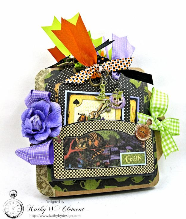 Trick or Treat Tag Album, Halloween in Wonderland, by Kathy Clement for RRR, Product by Graphic 45, Photo 1