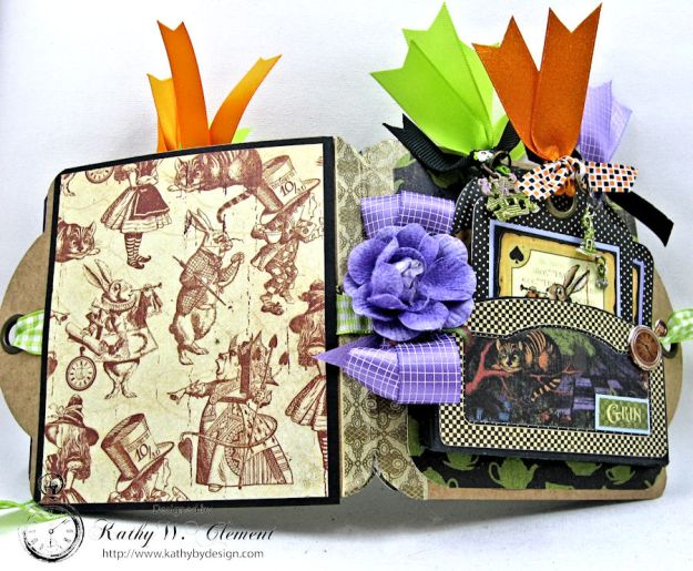 Trick or Treat Tag Album, Halloween in Wonderland, by Kathy Clement for RRR, Product by Graphic 45, Photo 11