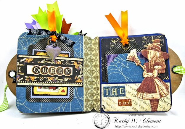 Trick or Treat Tag Album, Halloween in Wonderland, by Kathy Clement for RRR, Product by Graphic 45, Photo 9