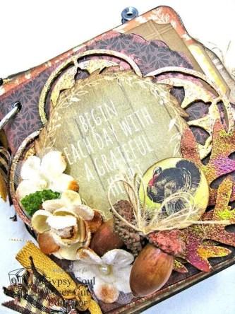 Thanksgiving Harvest Mini Album Tutorial by Kathy Clement