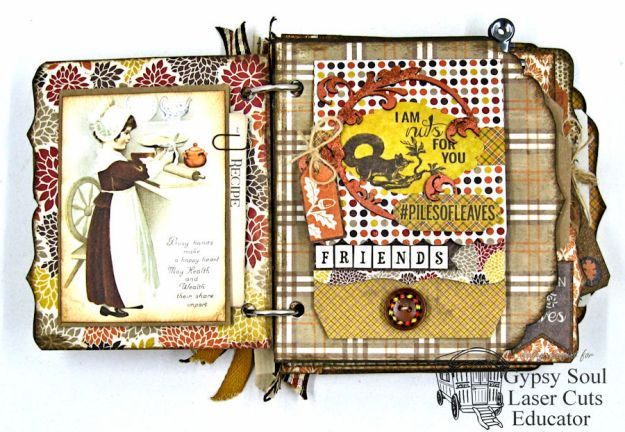 begin-each-day-with-a-thankfulThanksgiving Harvest Mini Album tutorial by Kathy Clement
