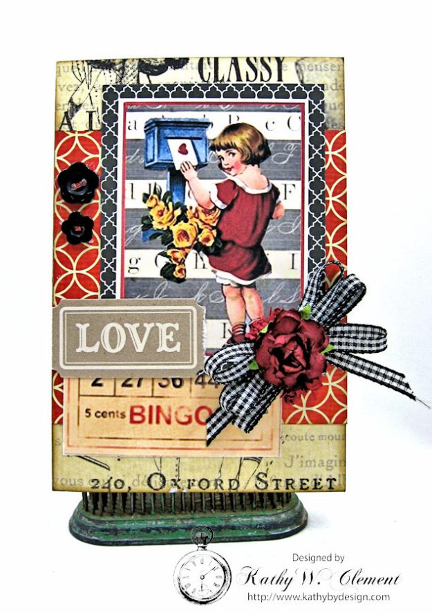 Schoolhouse Vintage Valentine Cards and Tags  by Kathy Clement Photo 2