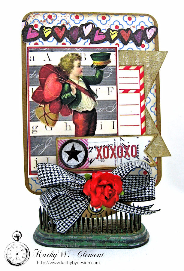 Schoolhouse Vintage Valentine Cards and Tags  by Kathy Clement Photo 4
