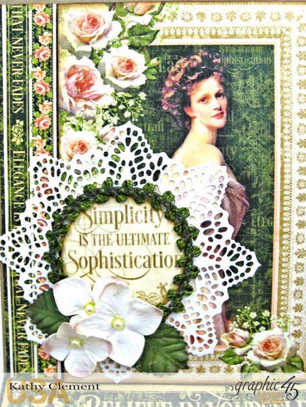 Portrait of a Lady Easel Card, Portrait of a Lady, by Kathy Clement, Product by Graphic 45, Photo 2