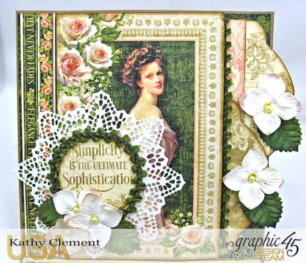 Portrait of a Lady Easel Card, Portrait of a Lady, by Kathy Clement, Product by Graphic 45, Photo 3