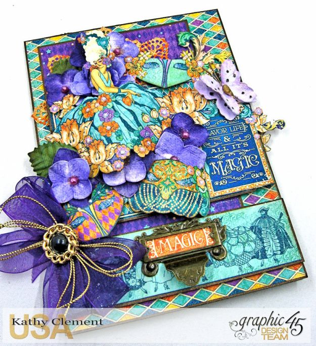 Magical Masquerade Ball Invitation, Midnight Masquerade, by Kathy Clement, Product by Graphic 45, Photo 4