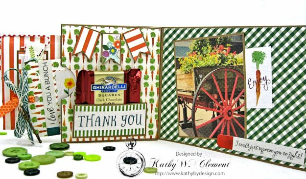 Garden Green Pocket Card with Carta Bella Homegrown by Kathy Clement Photo 3