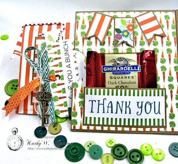Garden Green Pocket Card with Carta Bella Homegrown by Kathy Clement Photo 4
