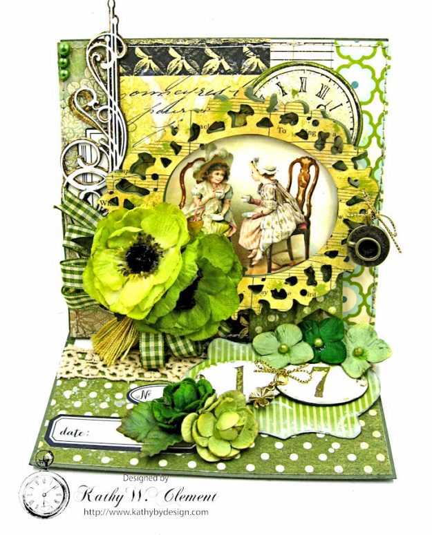 St. Patrick's Day Easel Card by Kathy Clement for Petaloo International Photo 1