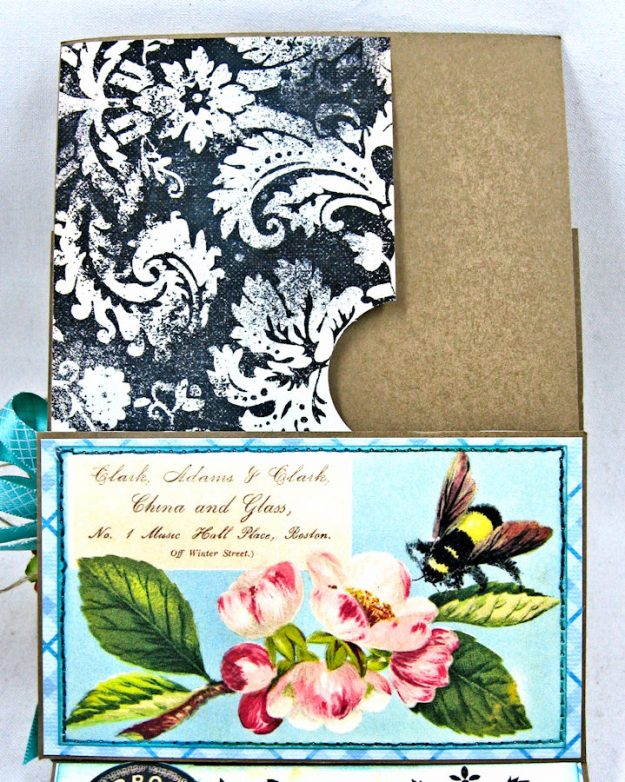 Busy Bee Greeting Card with Pockets by Kathy Clement for Really Reasonable Ribbon Photo 5