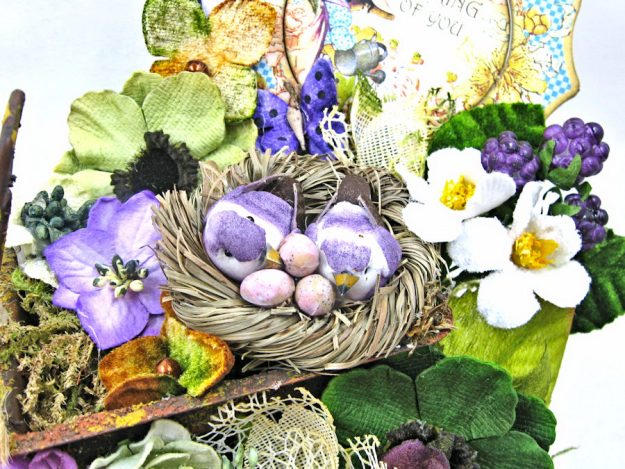Love Warms Every Nest Springtime Vignette by Kathy Clement for Petaloo International Photo  2