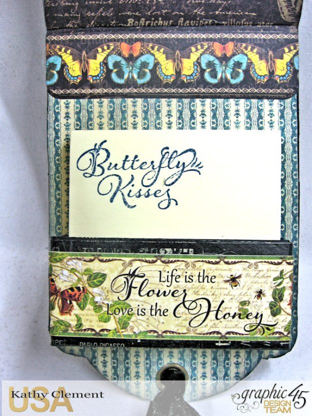 Nature Sketchbook Upcycled Butterfly Notepad Tutorial Nature Sketchbook by Kathy Clement Product by Graphic 45 Photo 8