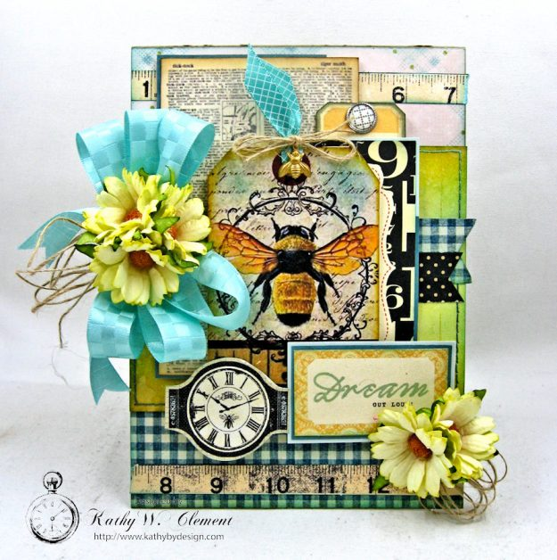 Dream Out Loud Honeybee Greeting Card by Kathy Clement for Really Reasonable Ribbon Photo 4