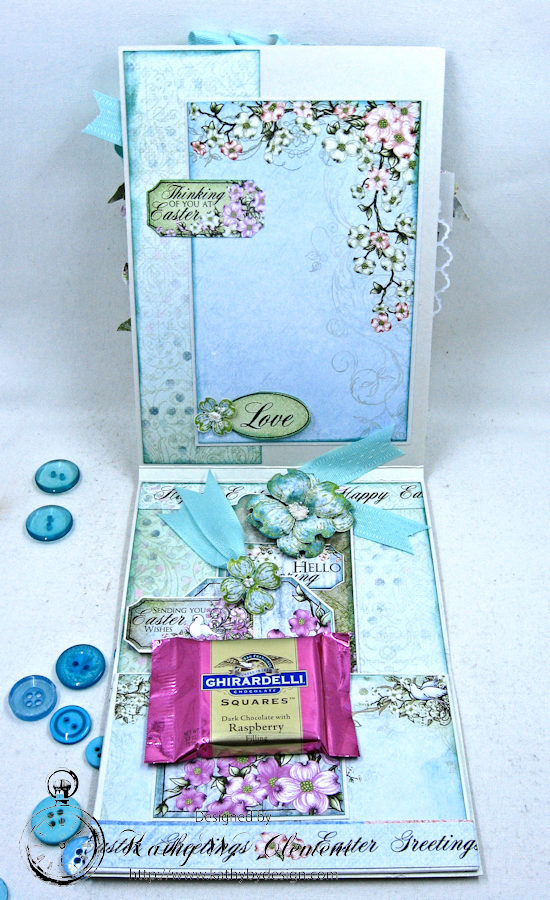 Aqua Flowering Dogwood Easter Card Tutorial by Kathy Clement for Heartfelt Creations Alumni Hop Photo 6