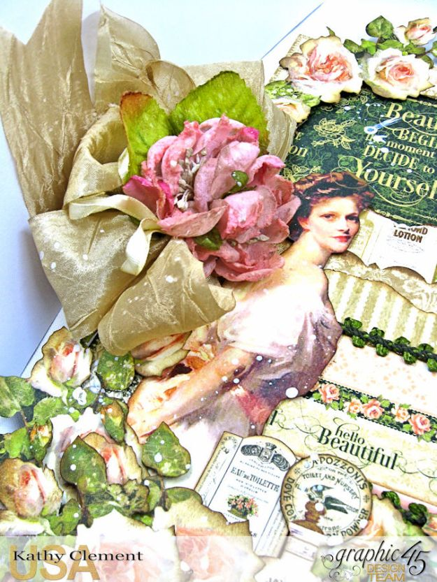 Elegant Lady Layout by Kathy Clement with Graphic 45 Portrait of a Lady Photo 5