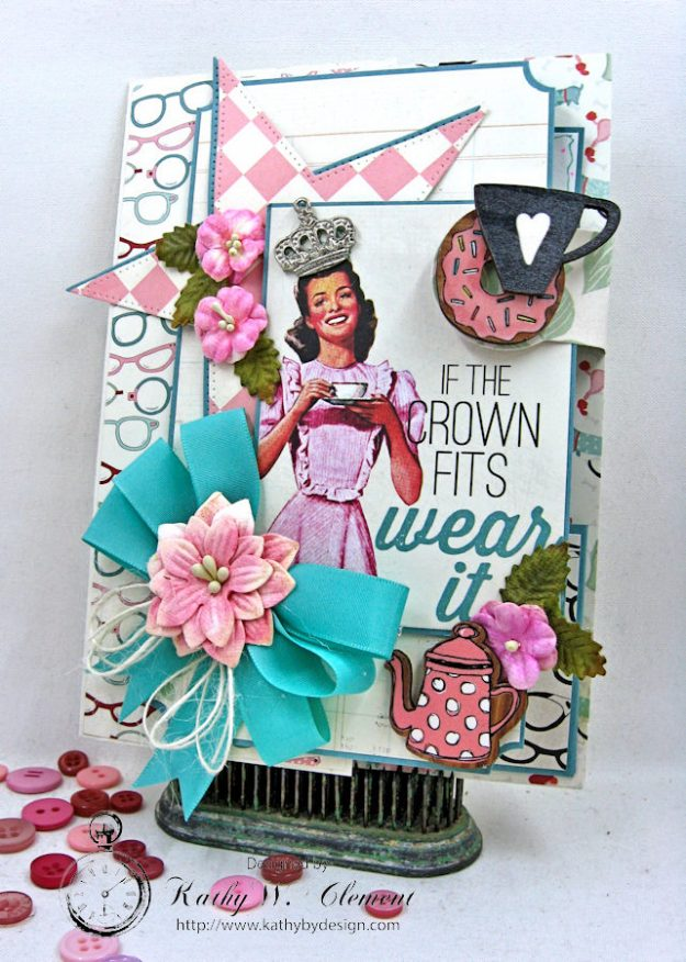 Authentique Fabulous Retro Style Birthday Card by Kathy Clement for Really Reasonable Ribbon Photo 2