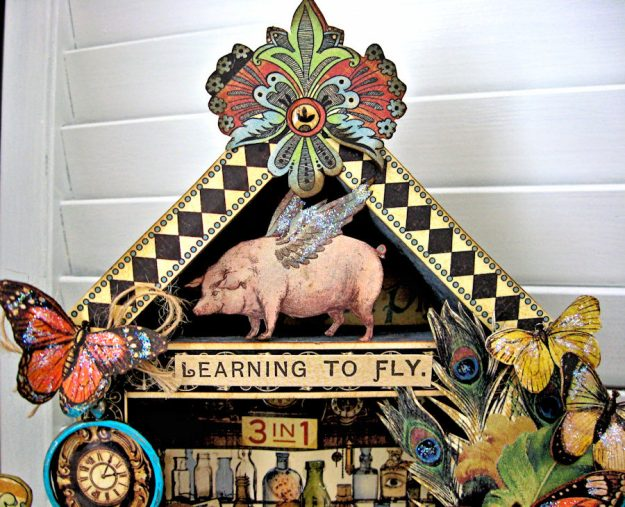 Graphic 45 Olde Curiosity Shoppe Vignette House for Frilly and Funkie Count Me In Challenge by Kathy Clement Photo 3