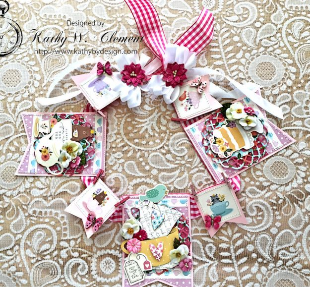 Tealightful tea party banner by Kathy Clement for Petaloo International Photo 1
