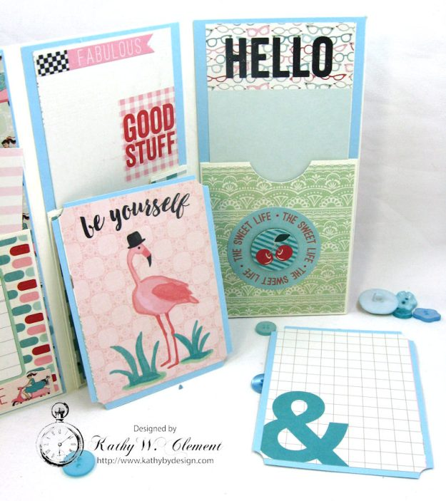 Be YOU Tiful Authentique Fabulous Retro Style Folio Tutorial by Kathy Clement Photo 10