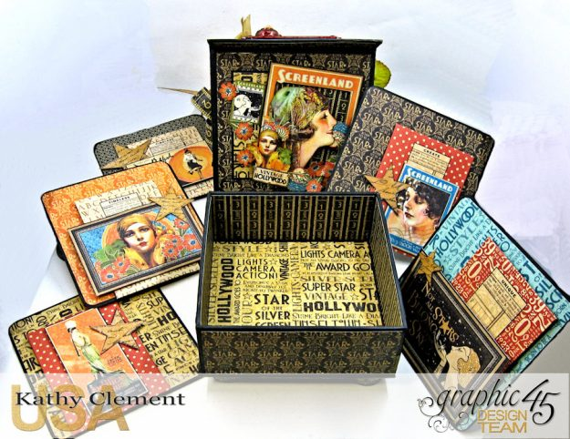 Born to Be a Star Photo Display Box Vintage Hollywood by Kathy Clement Product by Graphic 45 Photo 17