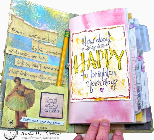 Choose Joy HeARTfelt Journal by Kathy Clement for the Put on Your Inking Cap Challenge at Frilly &  Funkie Photo 5