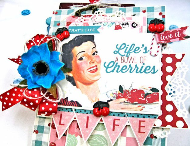 Life is a Bowl Full of Cherries Mother's Day Card Fabulous by Kathy Clement Product by Authentique Photo 2