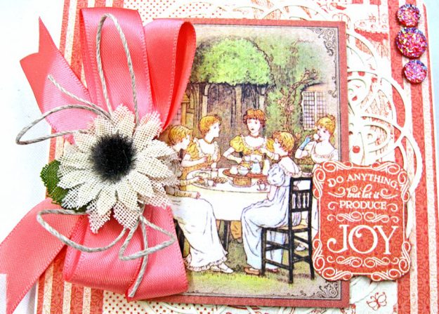 Tea Time Note Cards Tutorial A Place in Time Cafe Parisian by Kathy Clement Product by Graphic 45 Photo 11
