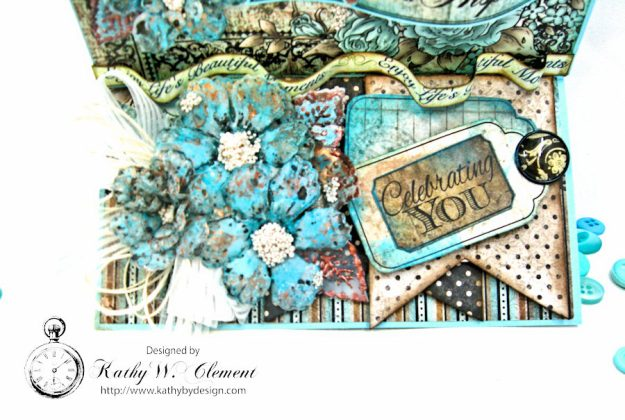 You Inspire Me Easel Card Tutorial Everyday Heroes by Kathy Clement Product by Heartfelt Creations Photo 6