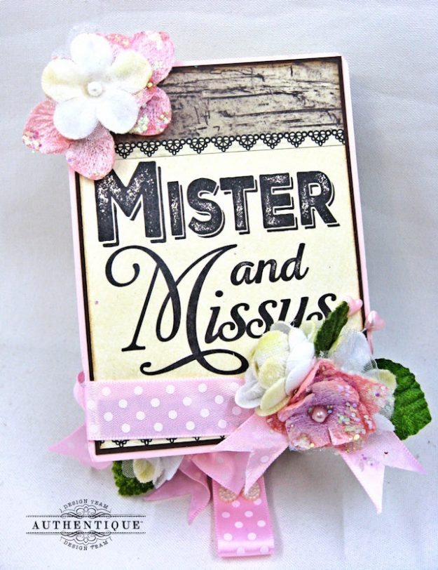 Mister and Missus Easel Style Gift Box Always by Kathy Clement Product by Authentique Photo 9