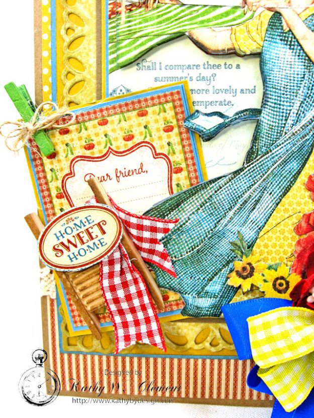Laundry Day Card Home Sweet Home by Kathy Clement for Really Reasonable Ribbon Product by Graphic 45 Photo 5