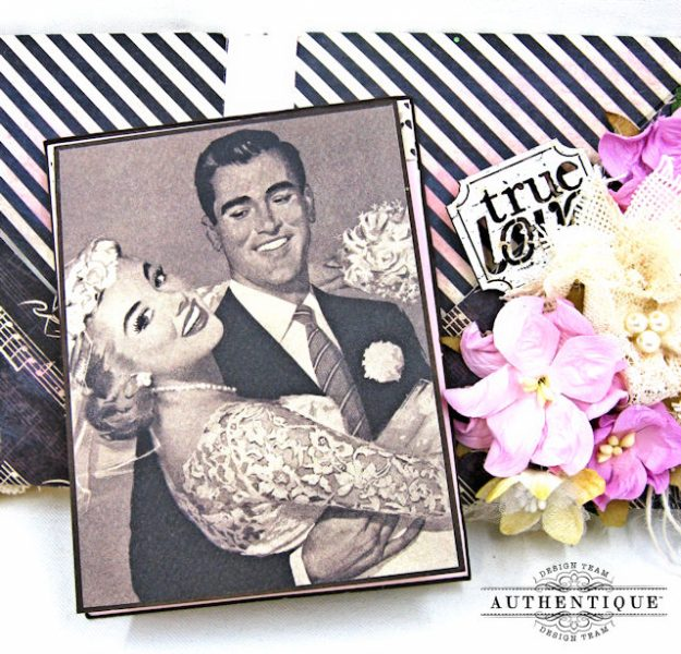 Bride and Groom Envelope Folio Always by Kathy Clement Product by Authentique Photo 8