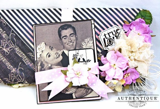 Bride and Groom Envelope Folio Always by Kathy Clement Product by Authentique Photo 7