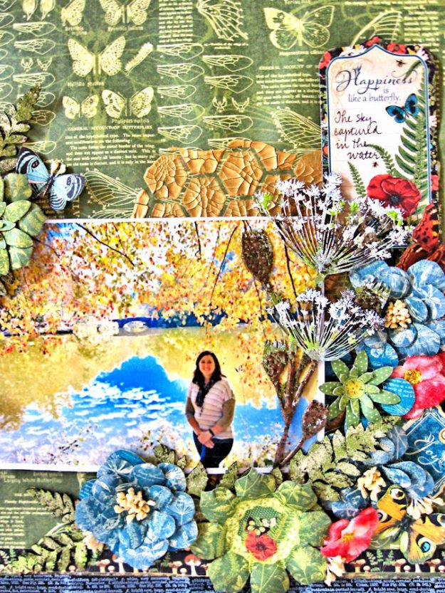 Natural Beauty Double Layout Nature Sketchbook by Kathy Clement Product by Graphic 45 Photo 4