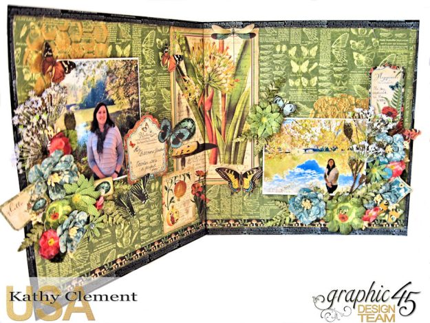 Natural Beauty Double Layout Nature Sketchbook by Kathy Clement Product by Graphic 45 Photo 7