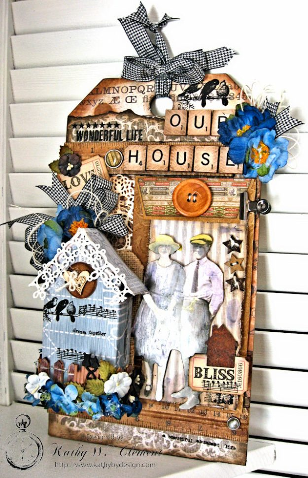 Our House Tim Holtz Etcetera Tag by Kathy Clement for Frilly and Funkie Sound of Music Challenge Photo 2