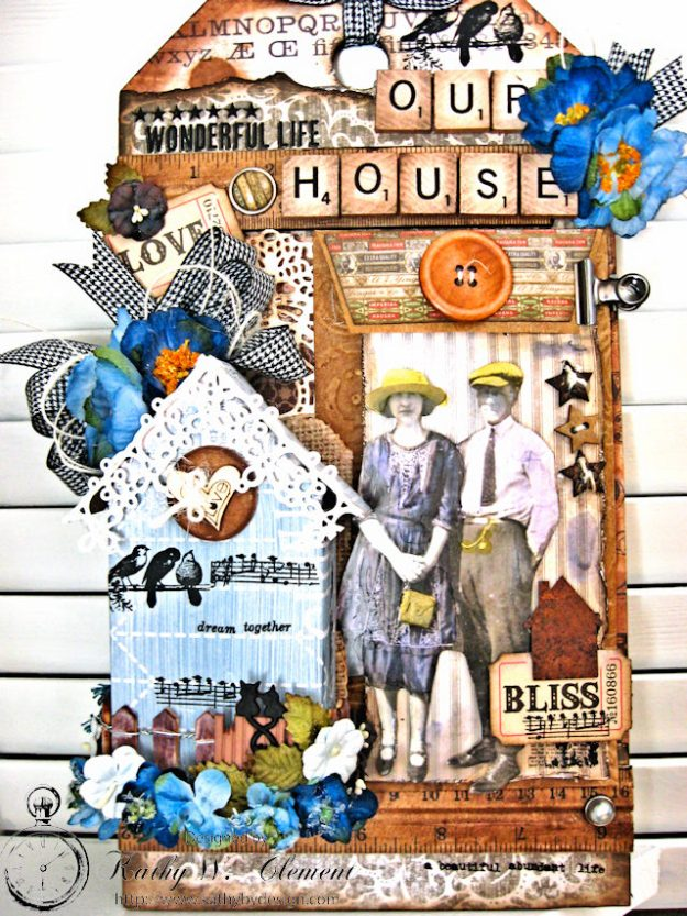 Our House Tim Holtz Etcetera Tag by Kathy Clement for Frilly and Funkie Sound of Music Challenge Photo 3