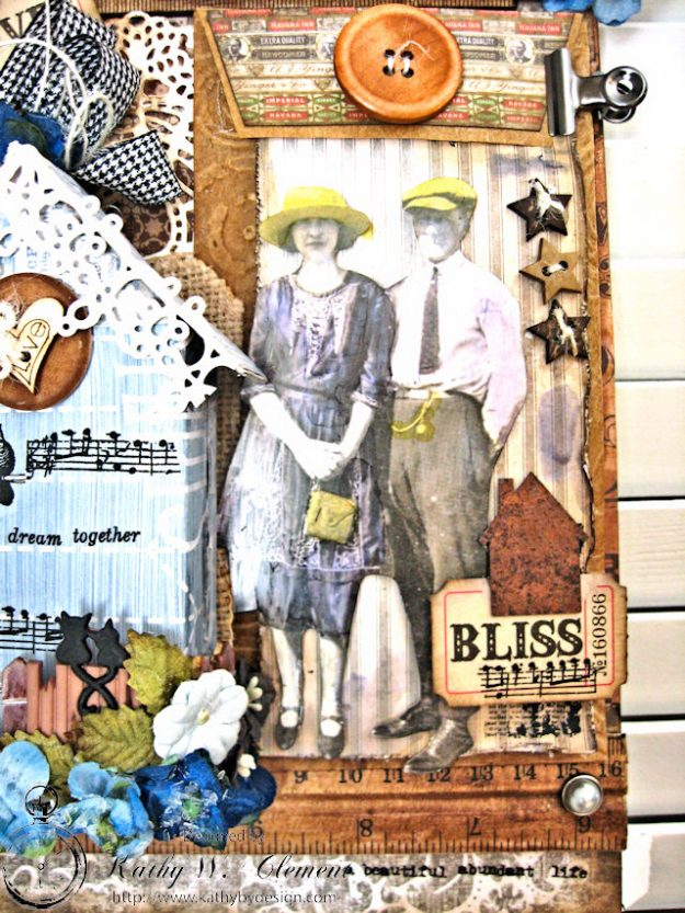 Our House Tim Holtz Etcetera Tag by Kathy Clement for Frilly and Funkie Sound of Music Challenge Photo 6