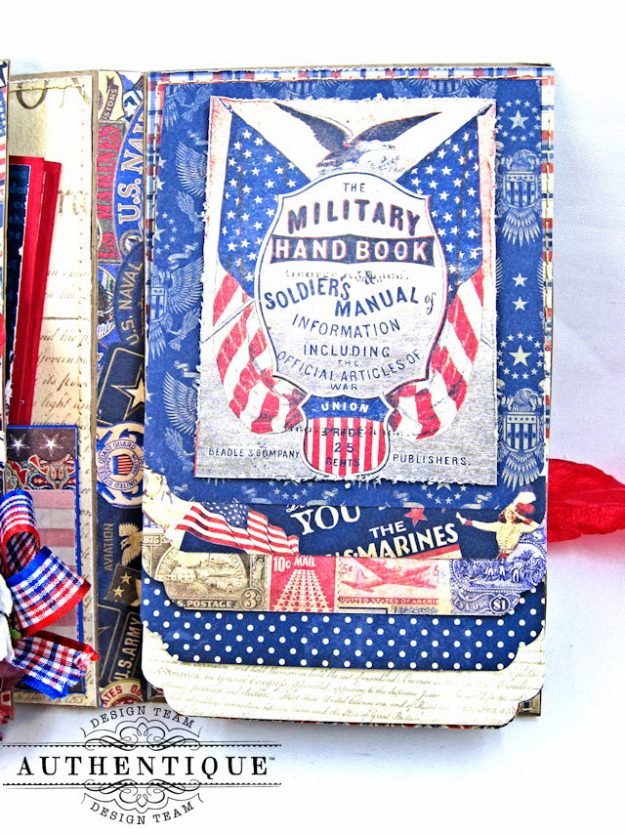 Authentique Heroic Patriotic Folio Heroic by Kathy Clement Product by Authentique Photo 12