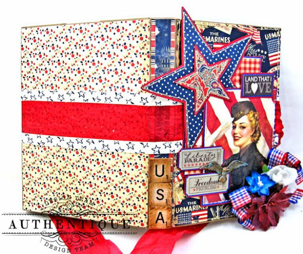 Authentique Heroic Patriotic Folio Heroic by Kathy Clement Product by Authentique Photo 2