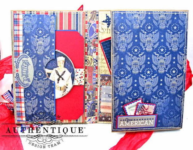 Authentique Heroic Patriotic Folio Heroic by Kathy Clement Product by Authentique Photo 3