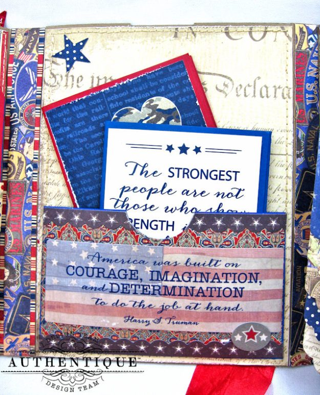 Authentique Heroic Patriotic Folio Heroic by Kathy Clement Product by Authentique Photo 7