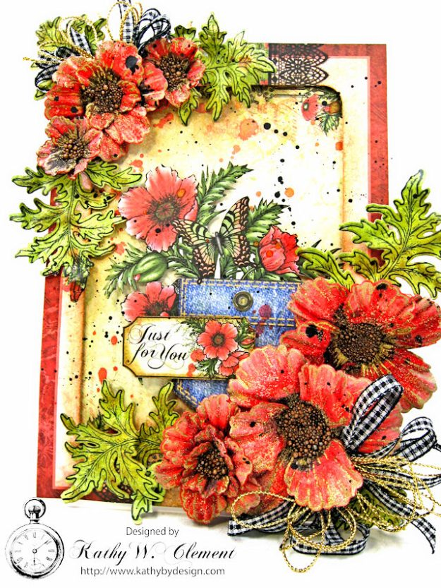Pocket Full of Poppies All Occasion Card Blazing Poppies by Kathy Clement Product by Heartfelt Creations Photo 2