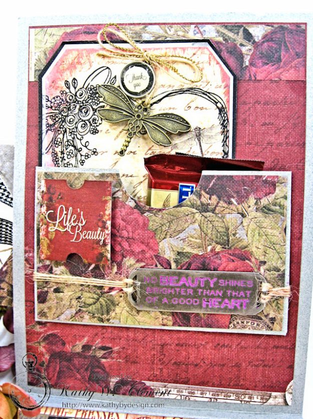Shabby Posies Thank You Card Tutorial by Kathy Clement for Tammy Tutterow Designs Photo 5