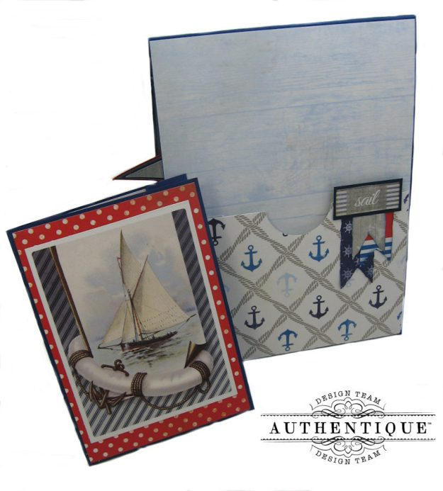 Nautical Themed Graduation Cards Seafarer by Kathy Clement Product by Authentique Photo 10