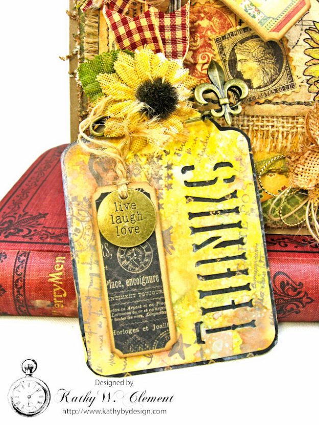 Spoonful of Gratitude Card French Country by Kathy Clement for Frilly and Funkie Something Old Challenge Product by Graphic 45 Photo 6