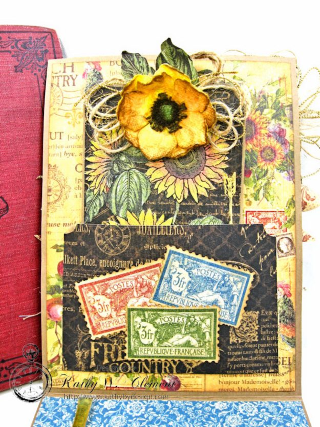 Spoonful of Gratitude Card French Country by Kathy Clement for Frilly and Funkie Something Old Challenge Product by Graphic 45 Photo 9